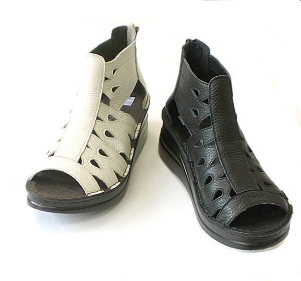 In Cholje(インコルジェ)足に優しい靴 バックファスナー ブーティーサンダル(4130) 靴 レディース 婦人靴●送料無料