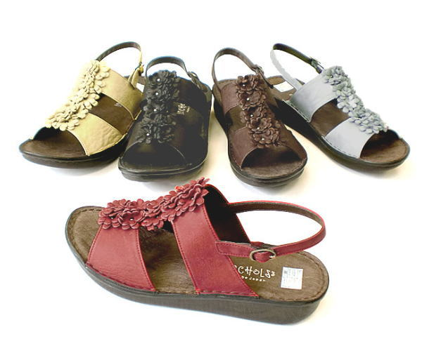 In Cholje(インコルジェ)足に優しい靴 フラットリボンサンダル(8863)靴 レディース 婦人靴●送料無料