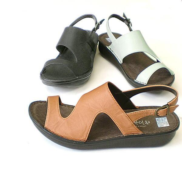 爪先のかえりよい船底タイプの楽々コンフォートシューズ In Cholje インコルジェ 足に優しい靴 まとめ買い特価 フラットクロスバックバンドサンダル 8865 今季も再入荷 レディース 靴 送料無料 婦人靴