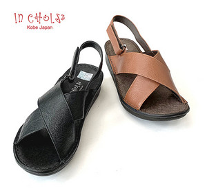 In Cholje(インコルジェ)足に優しい靴 フラット クロスベルトサンダル(8869)  靴 レディース 婦人靴●送料無料