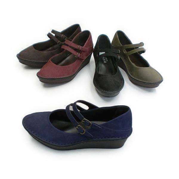In Cholje(インコルジェ) 足に優しい靴 新型ソール!2本ストラップパンプス 日本製 靴 レディース 婦人靴●送料無料