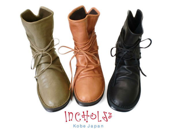 In Cholje(インコルジェ) 足に優しい靴 本革☆ぐるぐるレースアップショートブーツ(8344) 靴 レディース 婦人靴●送料無料