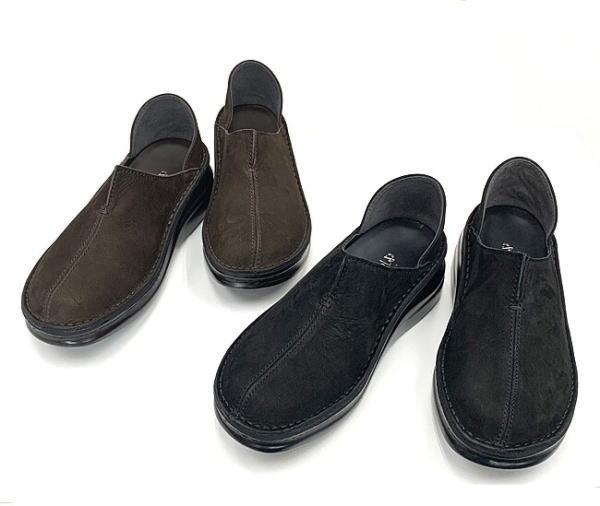 In Cholje(インコルジェ)足に優しい靴 起毛素材のセンターカットスリッポンシューズ(8273SN) 靴 レディース 婦人靴●送料無料