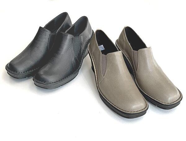 In Cholje(インコルジェ)足に優しい靴 厚底ウェッジ サイドゴアスリッポン(2027)靴 レディース 婦人靴 ●送料無料