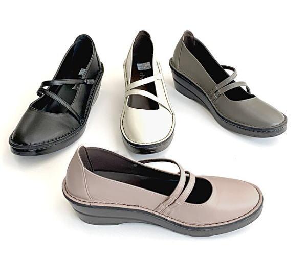In Cholje(インコルジェ)足に優しい靴 甲ストラップコンフォートパンプス(3254)日本製  靴 レディース 婦人靴●送料無料