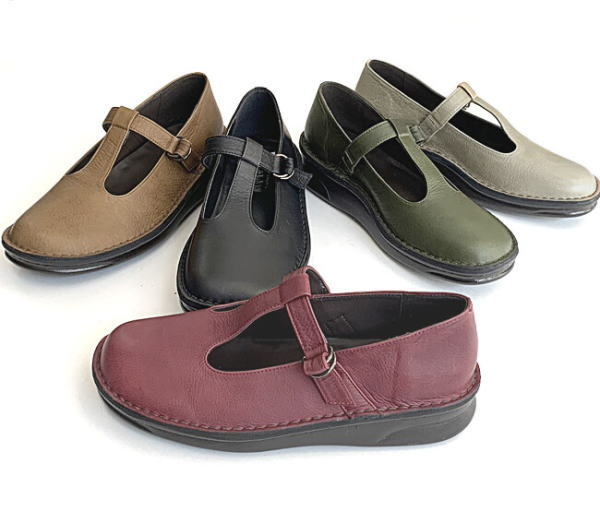 In Cholje(インコルジェ)足に優しい靴 Tストラップフラットシューズ(8596)靴 レディース 婦人靴 ●送料無料