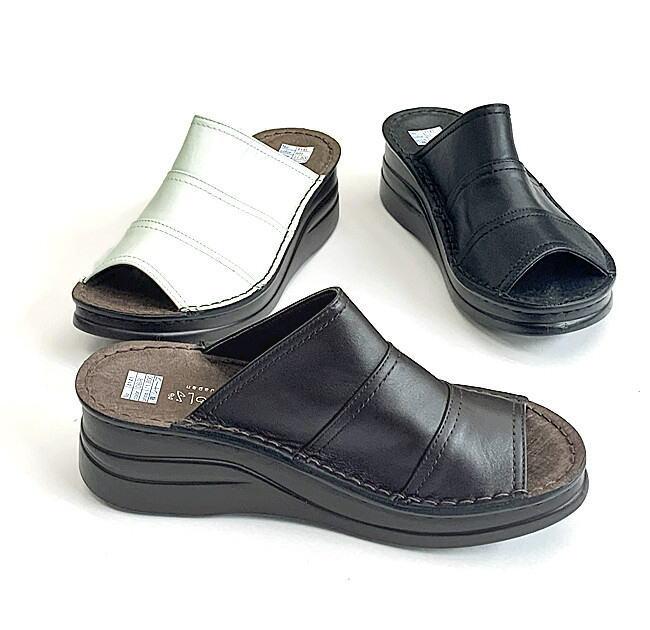 別倉庫からの配送 甲を深く抑えているので安定感のある履き心地のミュール In 公式 Cholje インコルジェ 足に優しい靴 オープントゥーミュール レディース 4141 靴 送料無料 婦人靴