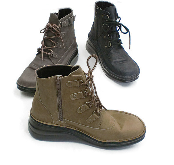 In Cholje(インコルジェ) 足に優しい靴 本革!トレッキング マウンテンブーツ(8492)日本製  靴 レディース 婦人靴●送料無料