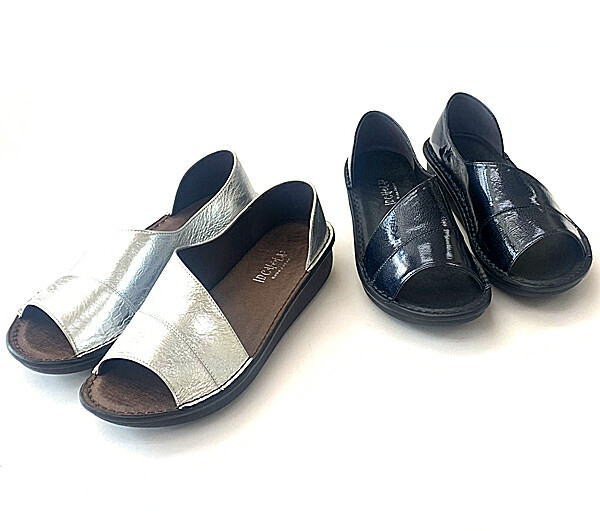 爪先のかえりよい船底タイプの楽々コンフォートサンダル In Cholje インコルジェ 足に優しい靴 本革 サイドオープンサンダル 新作 婦人靴 入手困難 8860M 靴 送料無料 レディース