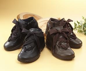 内ファスナーで脱ぎ履きらくちん Miss Kyouko 訳あり ミスキョウコ 4Eリボンコンフォート 12023 日本製 送料無料 婦人靴 853 レディース 店 靴