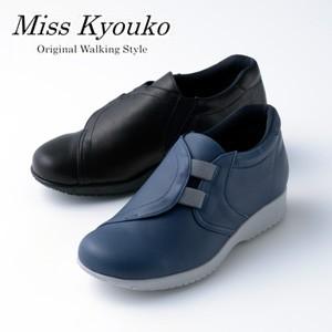 【Miss Kyouko】ミスキョウコ 4E ゴム使いスリッポン12202(2300) 日本製  靴 レディース 婦人靴●送料無料
