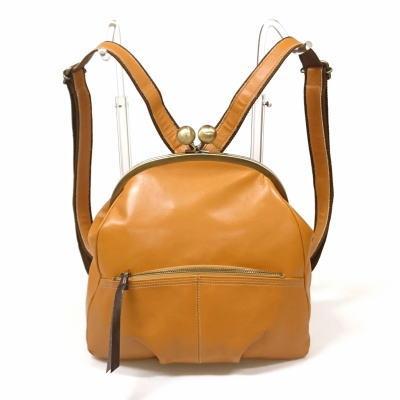 ◆LaisserFaire【レッセフェール】 レザーバッグ キューズ 本革 リュック がま口 日本製 バッグ レディース ●送料無料