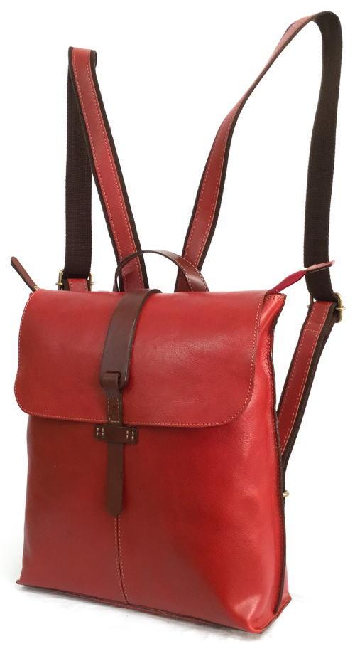 ◆ 日本製 サーチ 本革 リュック 裏地ドットがかわいいバッグ  バッグ レディース●送料無料