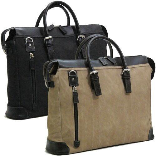 織人 縦ファスナー 二本手 ビジネスバッグ 日本製 ●送料無料