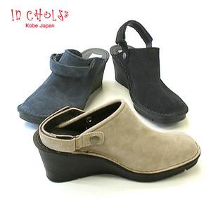 In Cholje(インコルジェ)足に優しい靴 厚底ウェッジ バックバンドミュール(2016) 日本製 靴 レディース 婦人靴●送料無料