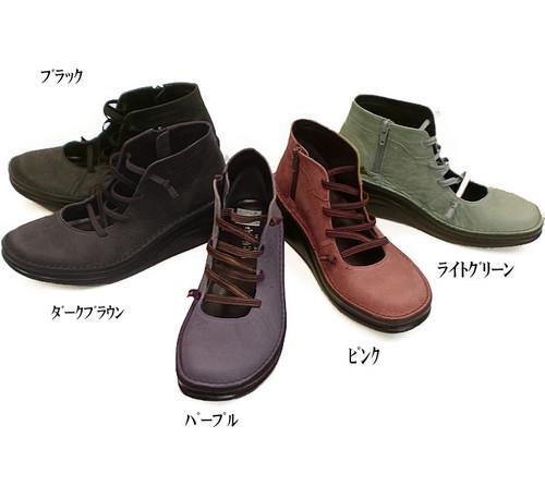 In Cholje(インコルジェ)足に優しい靴 ゴムストラップ春ブーティー(8420)靴 レディース 婦人靴●送料無料
