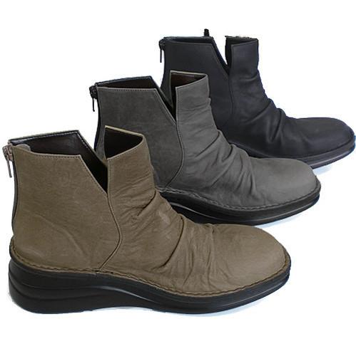 In Cholje(インコルジェ)足に優しい靴 本革! サイドVカットショートブーツ(8411)日本製  靴 レディース 婦人靴●送料無料