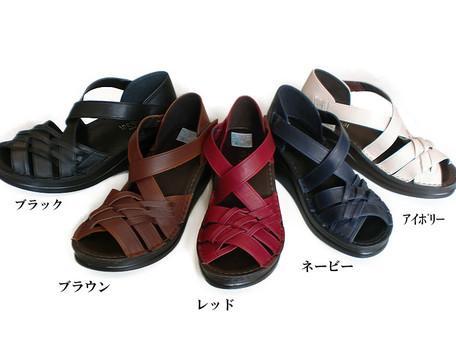 ベルトが足をしっかりホールド 長く飽きのこないシンプルなシューズ In Cholje インコルジェ 足に優しい靴 供え メッシュクロスベルトサンダル 送料無料 訳あり品送料無料 4072 婦人靴 レディース 靴 楽々快適サポートインソール