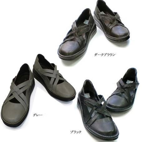 ◆ In Cholje(インコルジェ)足に優しい靴 クロスバンドシューズ(8237)【楽々インソール】靴 レディース●婦人靴