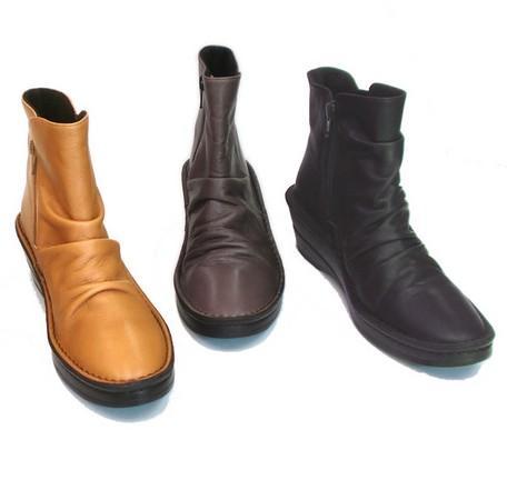 ◆ In Cholje(インコルジェ) 足に優しい靴 くしゅくしゅショートブーツ(3204)日本製  靴 レディース 婦人靴●送料無料