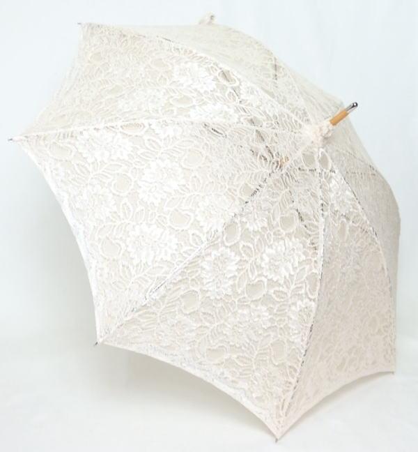 綿100%の豪華でなめらかなコードレースの傘 SALE 日傘 コードラッセルレース 送料無料 蛙張りショート傘 婦人傘 セールSALE%OFF