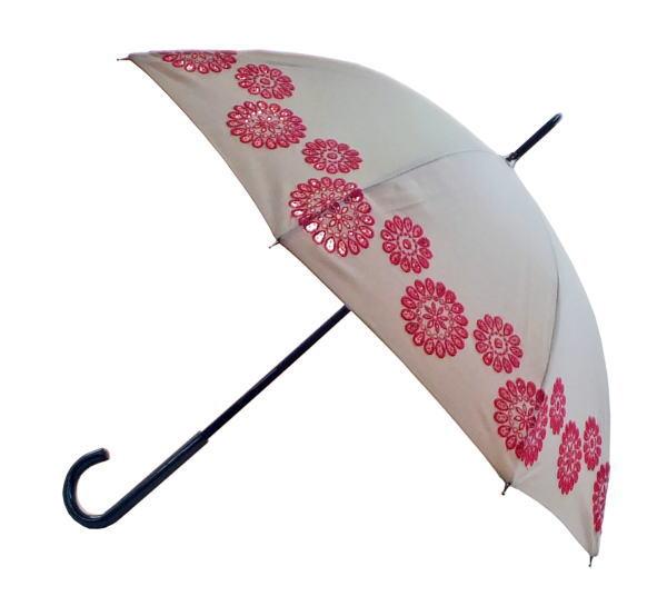 人気ショップが最安値挑戦 麻生地なので効果はもちろん 誕生日 お祝い 見た目にも清涼感抜群の傘 日傘 麻エンブロイダリーレース刺繍 婦人傘 長傘 送料無料