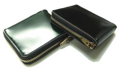 【顔料染めコードバン】 ラウンドジップショートウォレット【日本製】 財布●送料無料