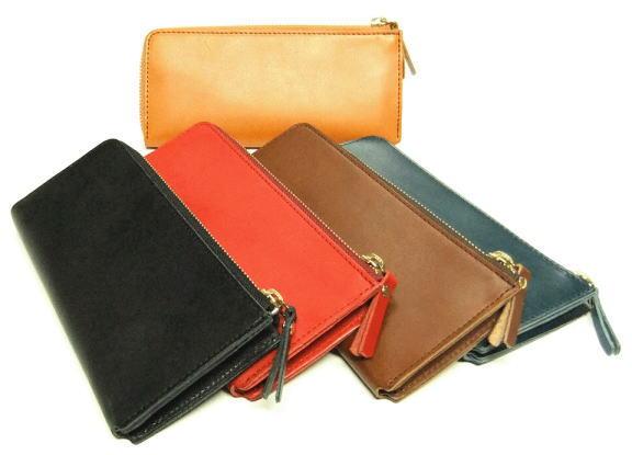 栃木レザー L型ジップロングウォレット 日本製 長財布●送料無料