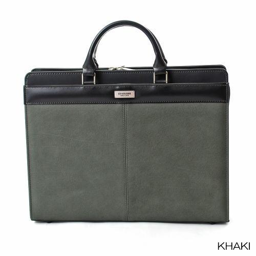 【Ed Kruger】 日本製 合皮ブリーフケース代金引換不可・送料無料