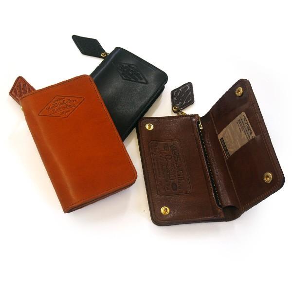 卸直営 オイルヌメ革の折財布 二つ折り財布 KUSTOM PIECE