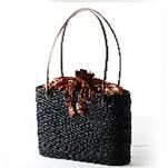 トートバッグ レディース メンズ a4 レッスンバッグ ショルダーバッグ 手編み ATA BAG [ ナルミニさんのアタバッグ トートタイプ BLACK ] バリ島 ゆかた 和