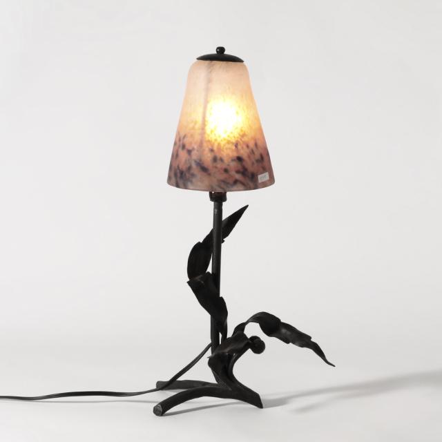 ランプ 照明 テーブルランプ スタンドランプ アンティークランプ ≪フレンチアンティーク雑貨≫ 作家ドゥゲー VP134 【中古】