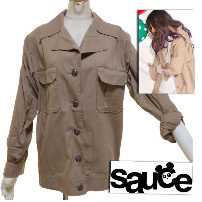 LA Celebrity favorite Sauce source BROKEN army jacket khaki