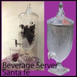 Beverage Server Santa fe/ビバレッジサーバー/サンタフェ/ガラス保存容器/カクテル/ジューサー/ディスペンサー/ガラス キッチン/beverage server santa fe/M411-172/DULTON/ダルトン