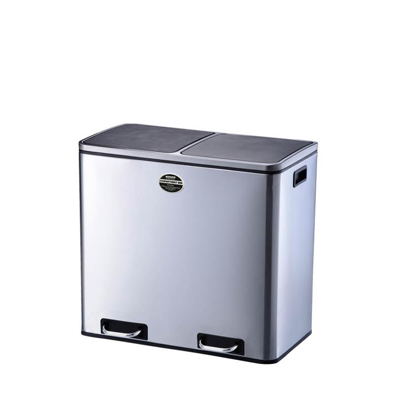 ポイント11倍/送料無料/K855-1204/2-COMPARTMENT BIN 60/ゴミ箱/スタイリッシュ/清潔/ダストボックス/キッチンゴミ箱/ゴミバコ/シンプル/ダルトン/DULTON/K855-1204