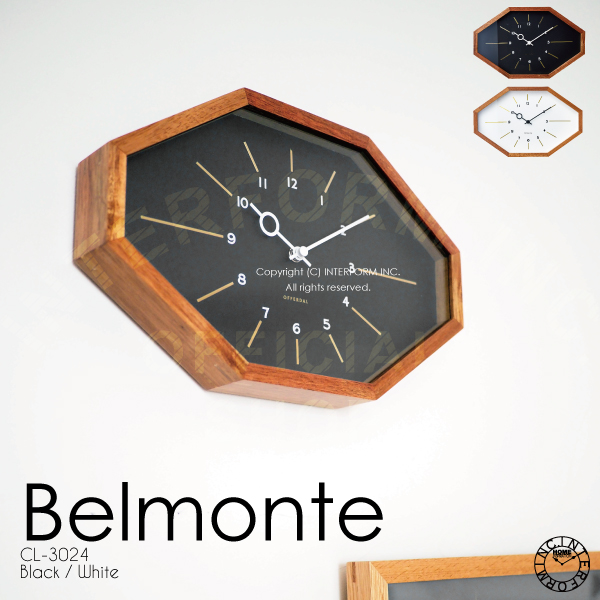 CL-3024 Belmonte ベルモンテ 掛け時計 電波時計 壁掛け時計 壁時計 インターフォルム 壁掛け時計 ウォールクロック WALL CLOCK クロック CLOCK ウォールクロック 時計 壁掛け インテリア 新居 店舗備品 インターフォルム INTERFORM