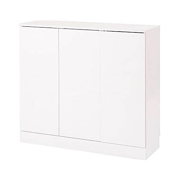 薄型 カウンター下収納 おしゃれ 奥行30cm 高さ87.5cm [ 送料無料 + メーカー直送 ] 組立品 ホワイト 白 キッチン用品 収納 食器 棚 ラック キッチンカウンター NAS fy-0018