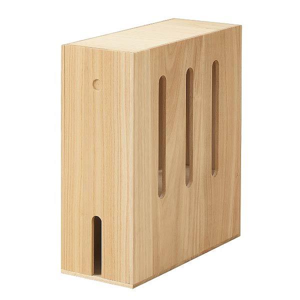 ルーター 収納 ボックス コンパクト 1個 ナチュラル [ 送料無料 ] ルーターボックス 木製 桐 ルーター収納ボックス ケーブルボックス コードケース ケーブル まとめる ひかり電話対応 桐ルーターボックス NAS iw-0030 DGR