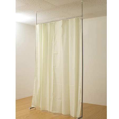 間仕切り カーテン ライトグリーン [ 送料無料 + ポイント2倍 ] 間仕切り カーテン つっぱり 部屋 しきり 間仕切り カーテン つっぱり 衝立 つっぱり カーテン 突っ張り オフィス 目隠し 間仕切り nj-0064 NAS DGR