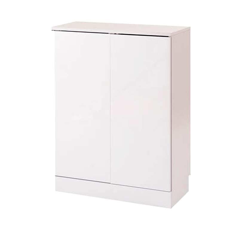 薄型 カウンター下収納 おしゃれ 奥行30cm 高さ87.5cm [ 送料無料 + ポイント2倍 + メーカー直送 ] ホワイト 白 キッチン用品 収納 食器 棚 ラック キッチンカウンター NAS fy-0017 DGR