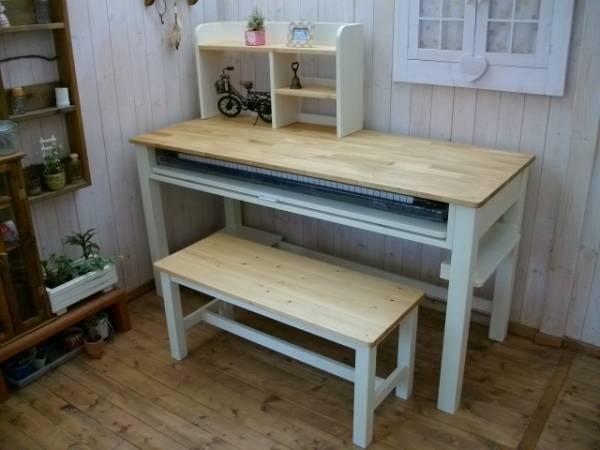 アンティーク/学習机/PCデスク/ピアノ台/作業台セット/Handmadeお部屋のスペースに合わせたオリジナルオーダー可能です。お問い合わせください^^