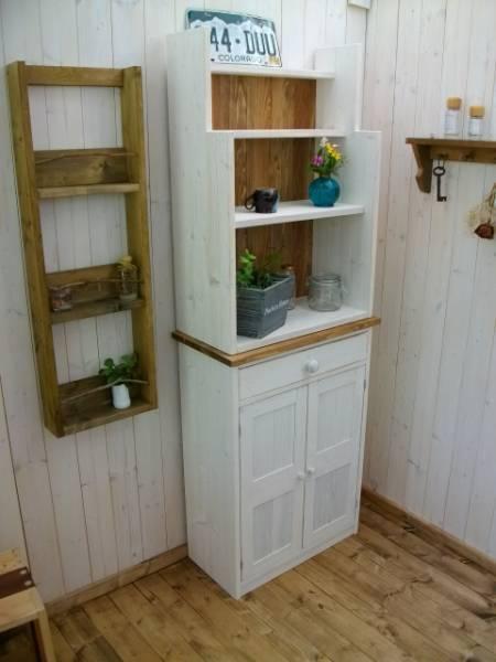 *☆収納棚☆ラック☆カップボードキッチン収納☆お部屋のスペースに合わせたオリジナルオーダー可能です。お問い合わせください^^