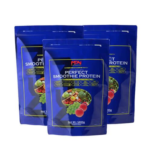 【3袋セット】MPN エムピーエヌパーフェクトスムージープロテインマスカット&ピーチ 1.6kg[ プロテイン / 五大栄養素 / 食事代替 / スムージー / ホエイ / オメガ3 / HMB / 粉末 / サプリ / メロン ]【イチオシ】