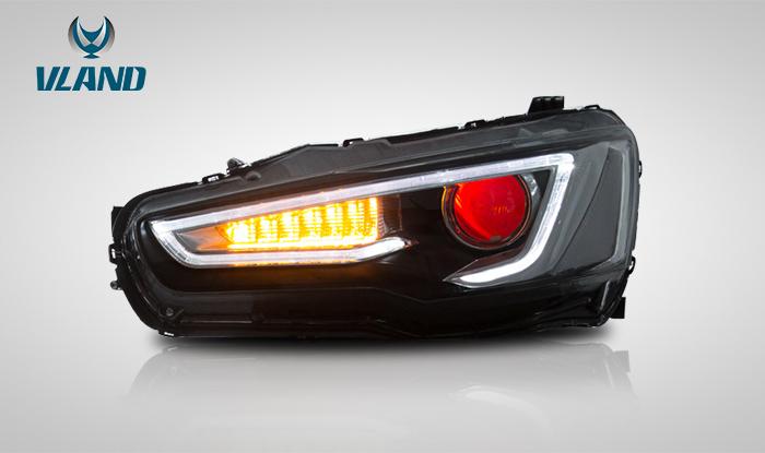 cz4a 流れるウインカー ランエボ X ギャラン フォルティス LED ヘッドライト エボ10 VLAND