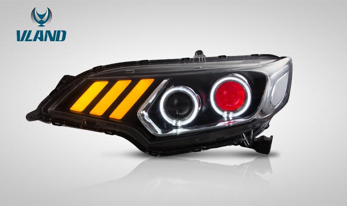 FIT3 フィット3 LED ヘッドライト 流れる ウィンカー GP5 GK3 GK4 GK5 GK6 イカリング VLAND