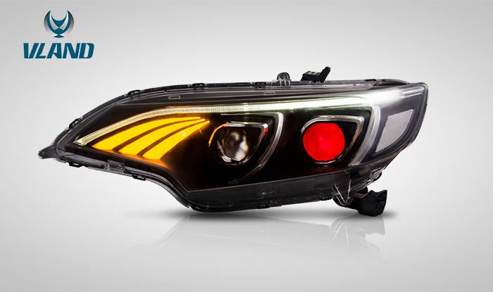 FIT3 フィット3 LED ヘッドライト 流れる ウィンカー GP5 GK3 GK4 GK5 GK6 ファイバーライン VLAND