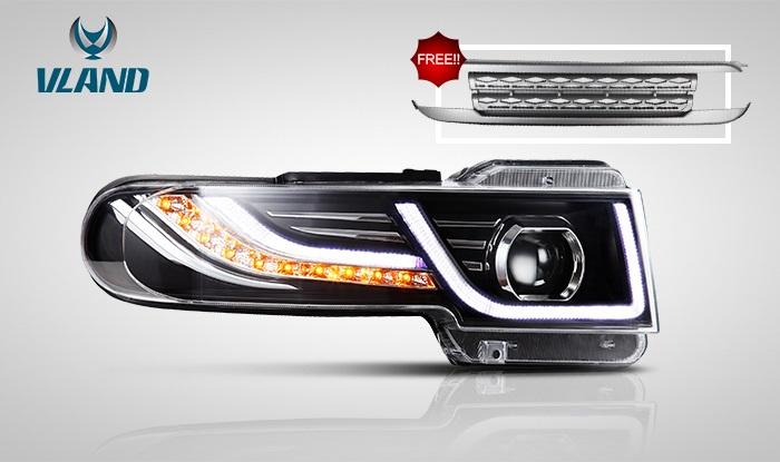 FJ クルーザー LED ヘッド ライト 流れる ウインカー フロントグリル VLAND