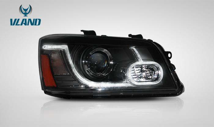 クルーガー LED ヘッドライト ファイバー ドレスアップ VLAND