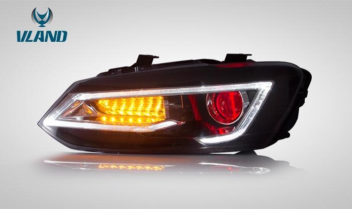 ポロ 5代目 6R 流れる ウインカー LED ヘッドライト POLO VLAND