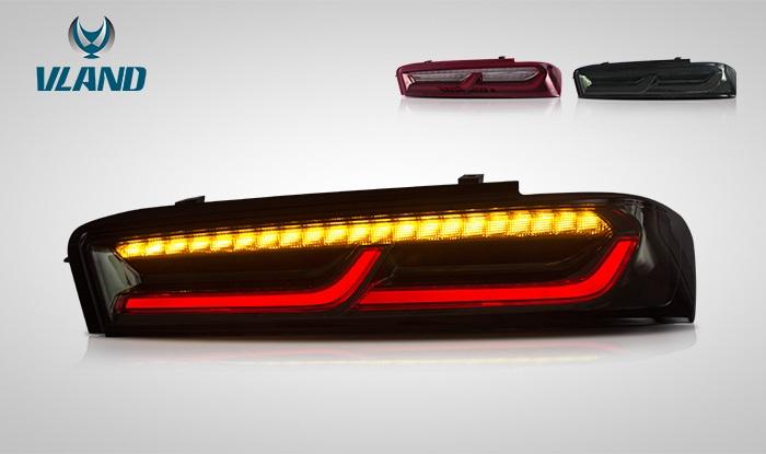 VLAND 日本仕様ディーラー車両 カマロ LT RS SS LED テールランプ 流れるウインカー camaro